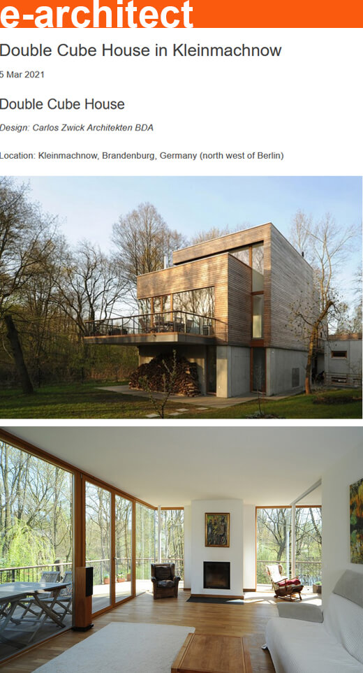 Double Cube House in e-architect – World Architecture