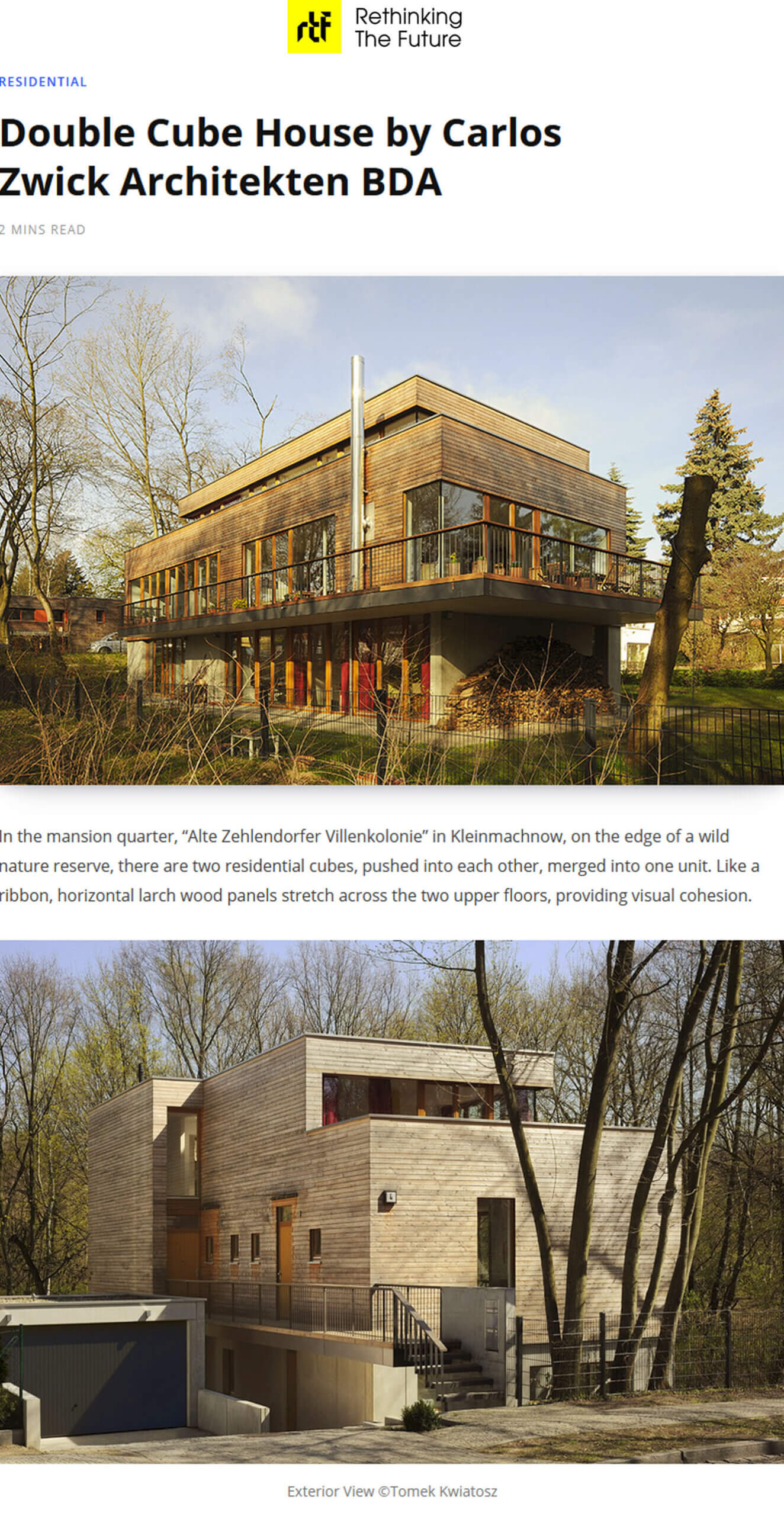 Double Cube House in Rethinking the Future
