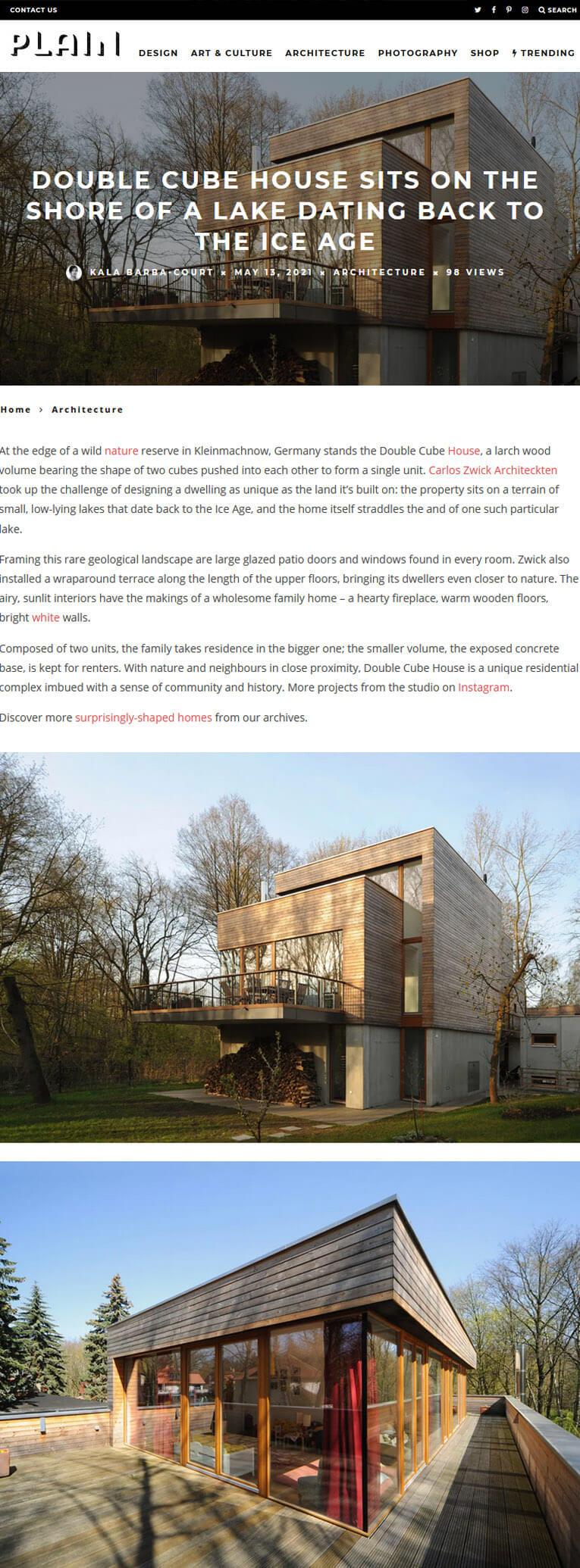 Double Cube House in Plain Magazine