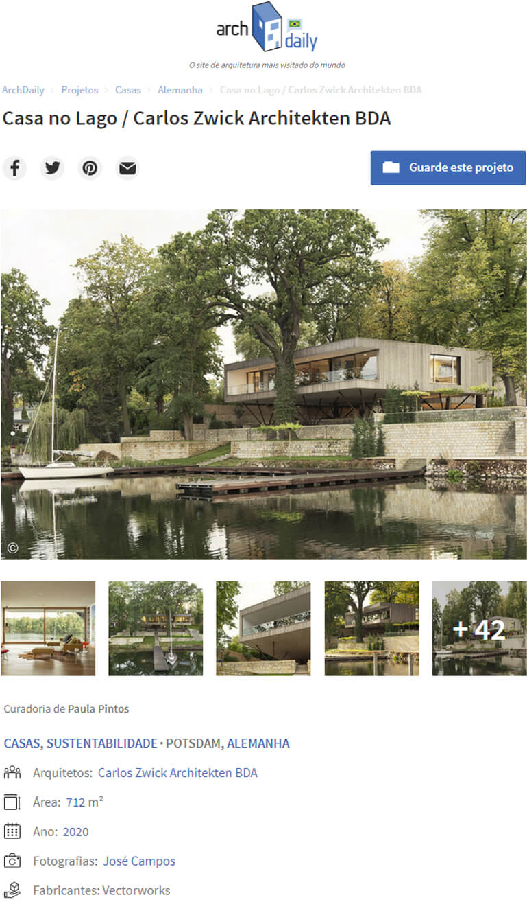 Haus am See in ArchDaily Brasil