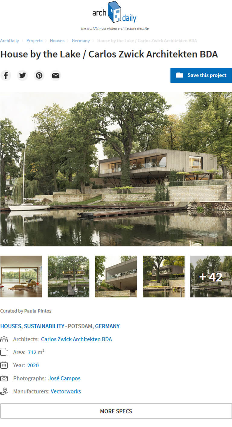 Haus am See in ArchDaily