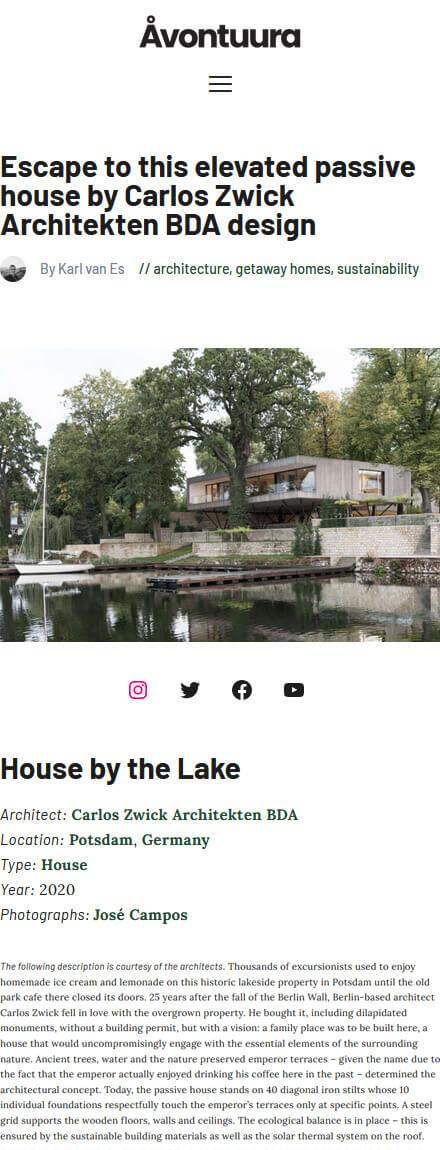Haus am See in Åvontuura