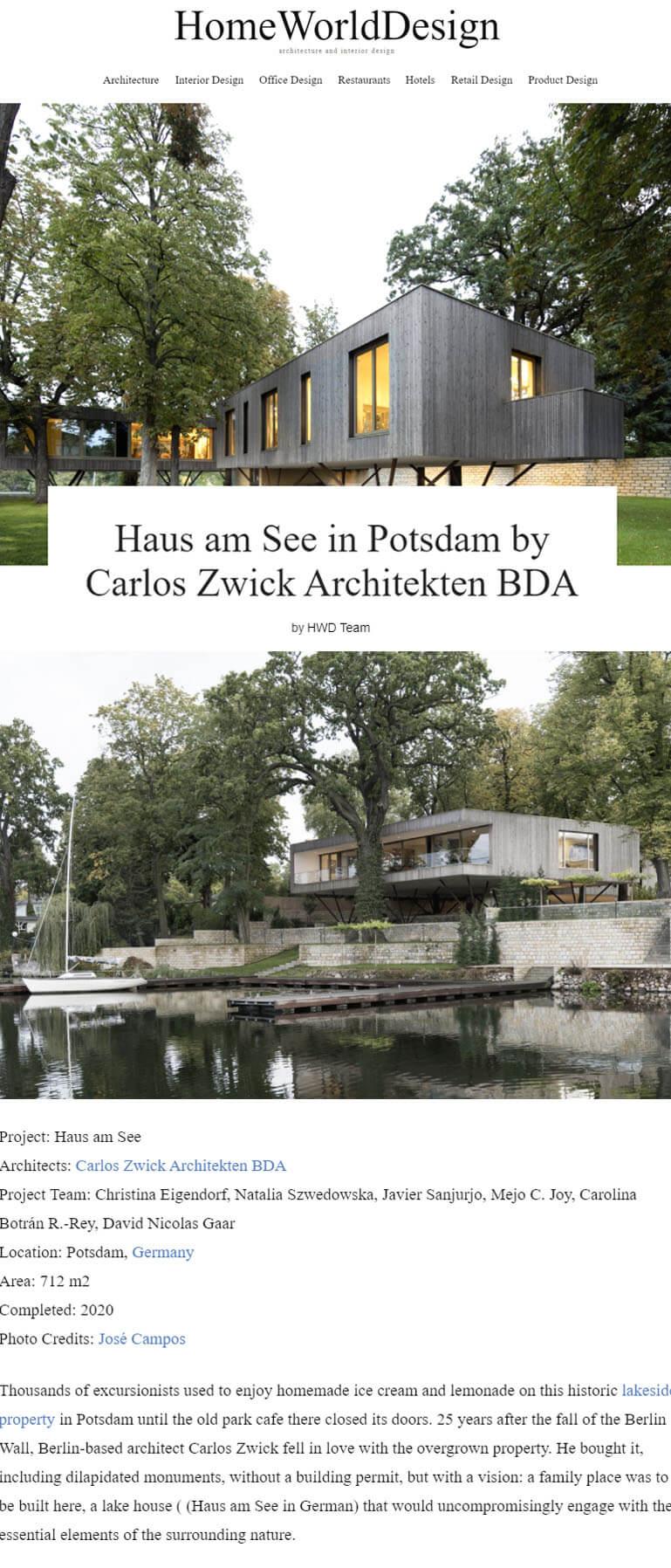 Haus am See in HomeWorldDesign