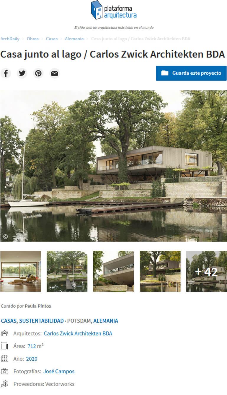 Haus am See in Plataforma Arquitectura