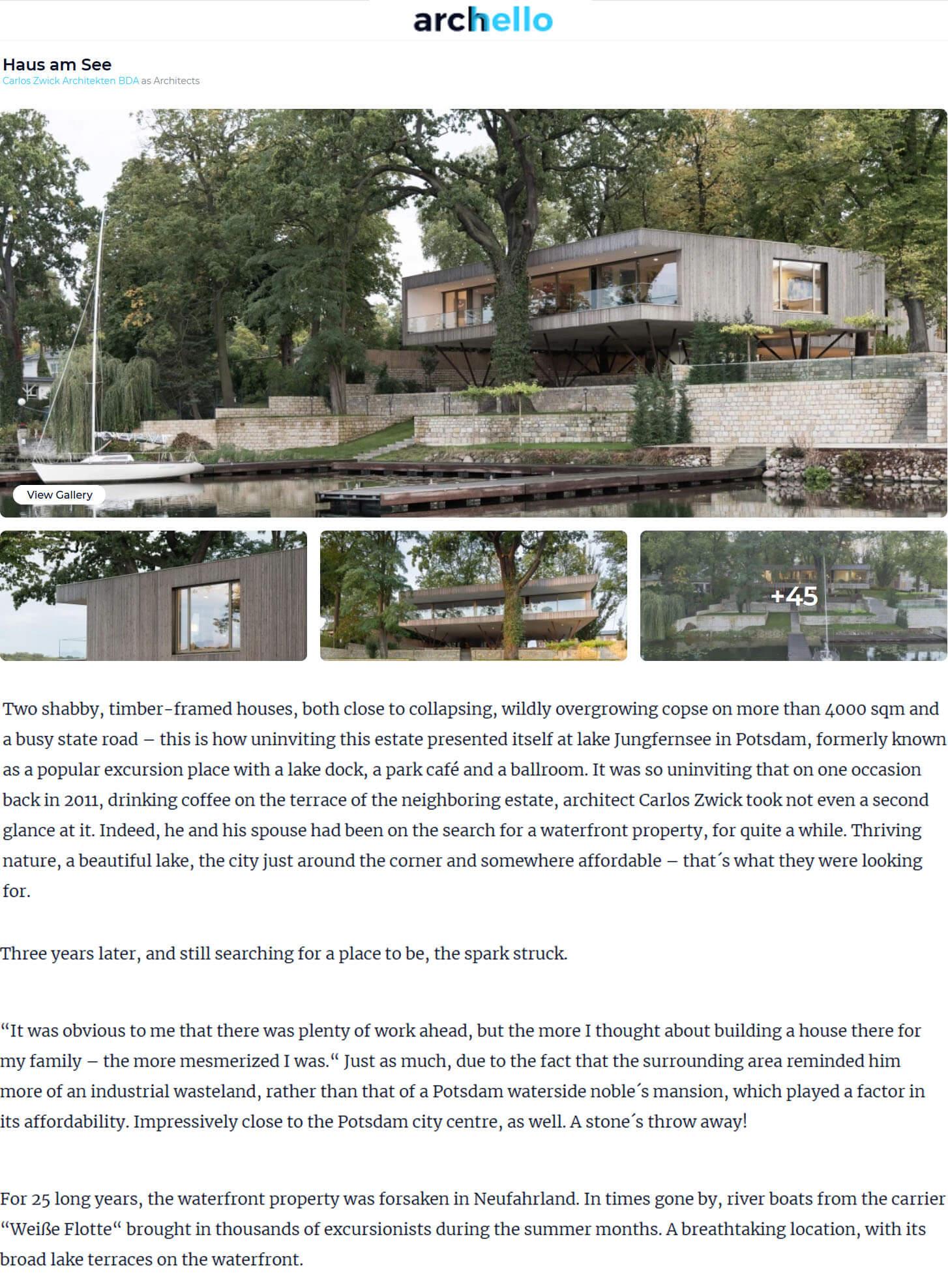 Haus am See in Archello