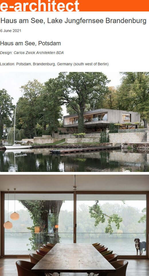 Haus am See in e-architect – World Architecture