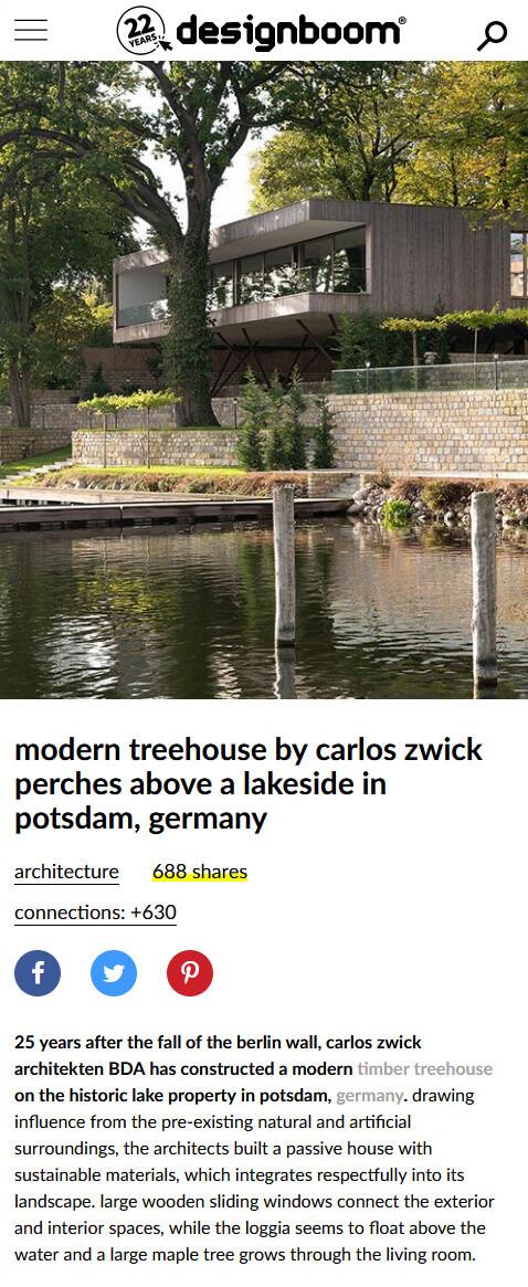 Haus am See in designboom